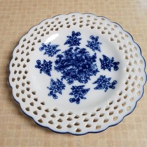 Decorative Blue & White Plate